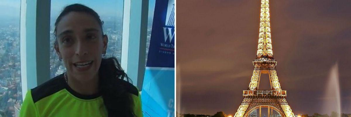 María Elisa López - Mexicana subió a la Torre Eiffel en tiempo récord