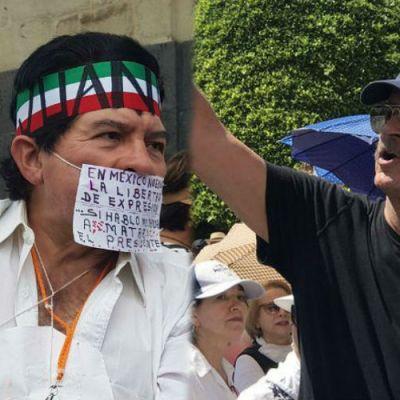 En México marchan contra el gobierno de López Obrador; participa Vicente Fox