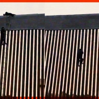 ¡En tú cara Trump! Migrantes se las ingenian y brincan parte del nuevo muro de EUA