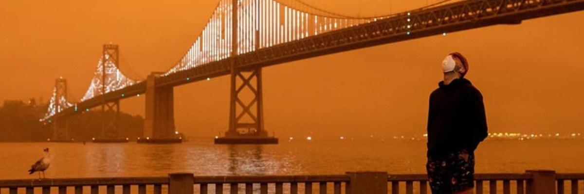 Así se ve el cielo en la costa oeste de EU a causa de los incontrolables incendios