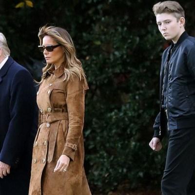 Barron, hijo menor de Donald Trump, dio positivo a Covid-19
