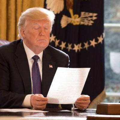 Trump dejó una carta a Biden