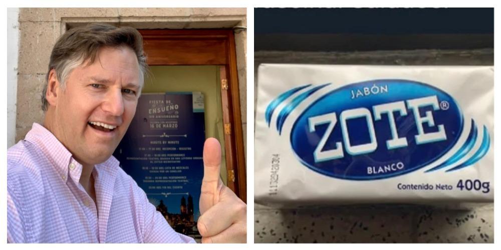 Exembajador de EU se lleva su jabón Zote antes de dejar México