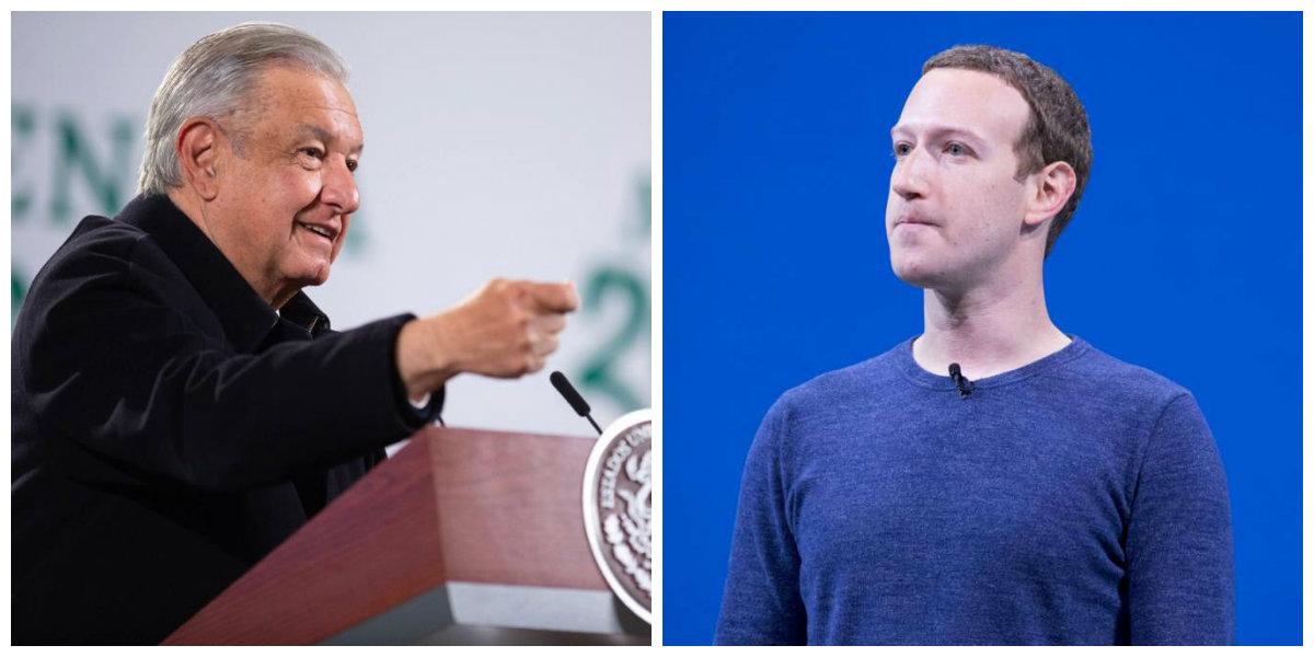 """AMLO llama """"prepotente"""" a Zuckerberg por suspender las cuentas de Trump"""
