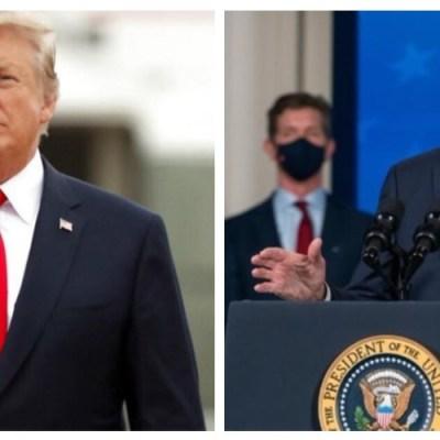 Trump le pide a Biden que termine de construir el muro fronterizo