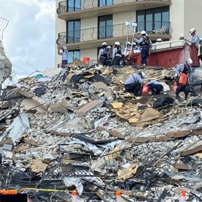 Rescatista encuentra el cuerpo de su hija en los escombros de Miami