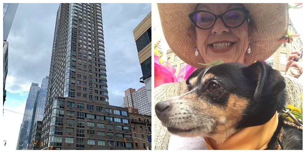 Mujer salta con su perro desde un edificio de 46 pisos