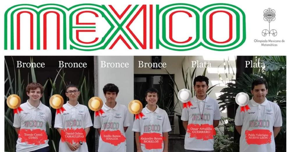 México gana 6 medallas en la Olimpiada Internacional de Matemáticas