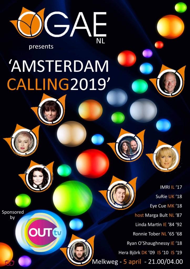 Amsterdam Calling 2019 Melkweg Eurovision ESC