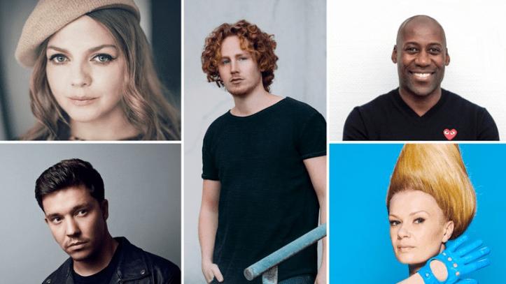Deutsche ESC Jury 2019 Joe Chialo, Annett Louisan, Nicola Rost, Nico Santos Michael Schulte