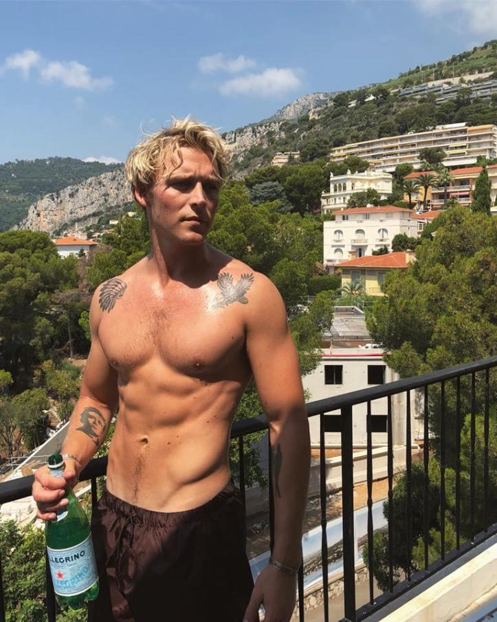 Christopher DK shirtless