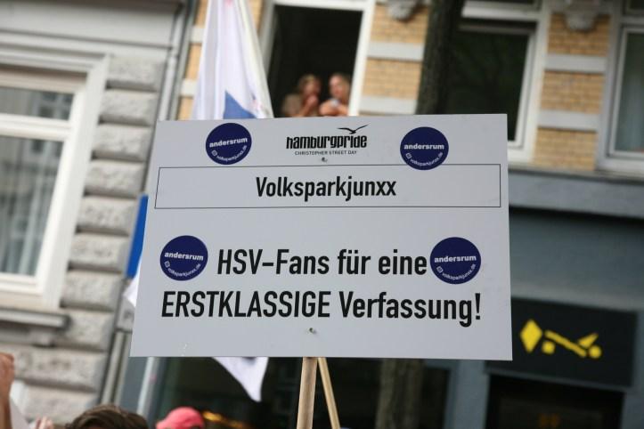 CSD HH 2019 mit ESC kompakt Dancefloor Parade HSV Fans für eine ERSTKLASSIGE Verfassung