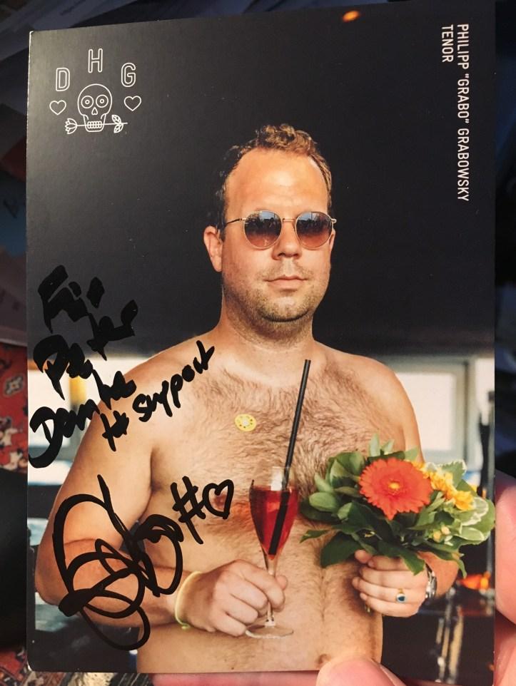 Die Hamburger Goldkehlchen 4 ESC 2020 Probe Autogrammkarte Philipp Grabo Grabowsky Tenor