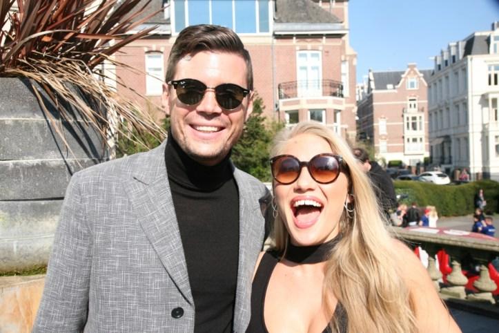 BTS EiC 2017 Amsterdam Anja Nissen laughs with Robin Bengtsson