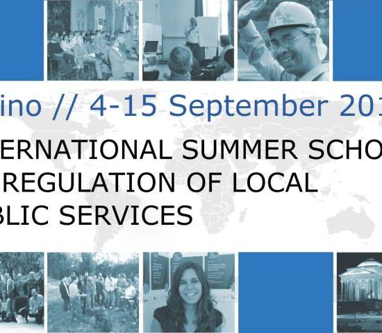 20th International Summer School on the Regulation of Local Public Services