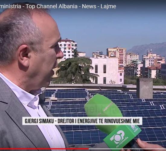 """Energjia """"Fotovoltaike"""" e nis nga ministria e energjisë, botuar nga Top Channel, me 10 Tetor 2017"""