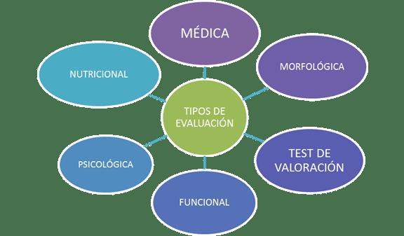 Tipos de evaluación que pueden efectuarse en la planificación de un entrenamiento