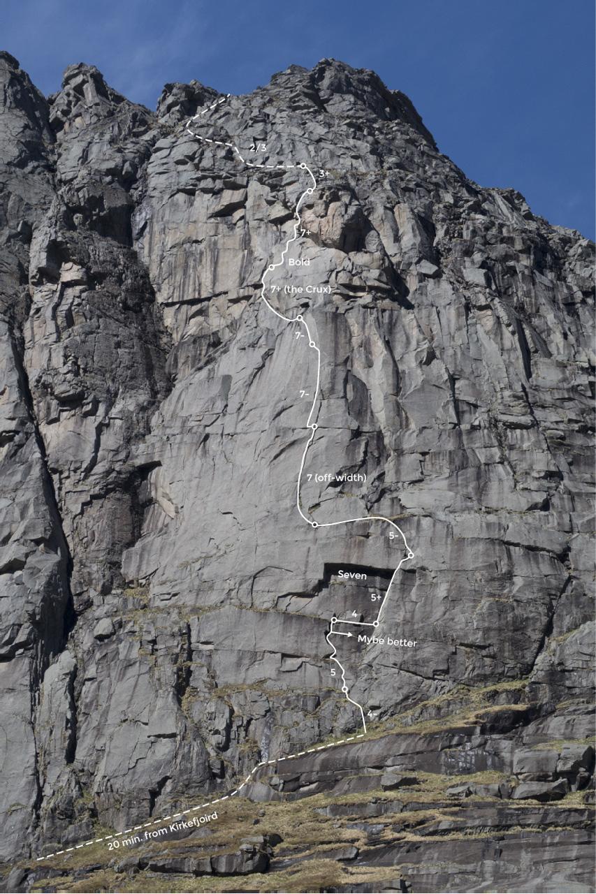 climbing-lofoten-kirkefjord-merraflestinden-topo