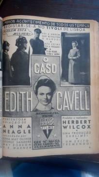 """FIGURA 115 - Poster português do filme """"O Caso Edith Cavell"""", de Helbert Wilcox (1939)"""