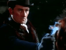 "FIGURA 148 - Still do filme ""Horror of Dracula"", de Terence Fisher, com Peter Cushing no papel de Dr. Van Helsing (Hammer Films, 1958)"
