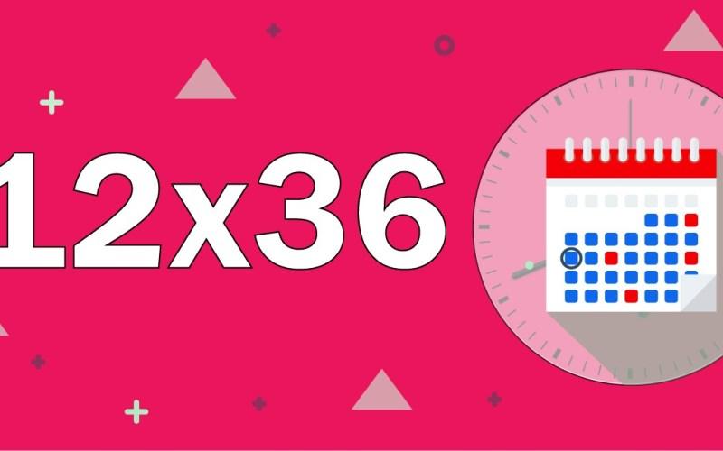 escala de trabalho 12x36
