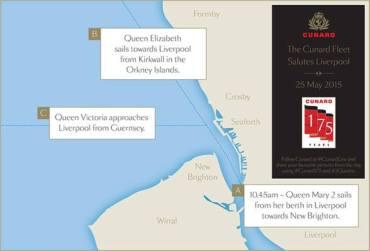 3 Queens - Cunard - 175 ans - Liverpool