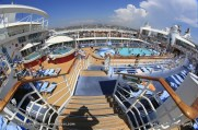 Allure of the Seas - Pool and Sports zone - Main pool