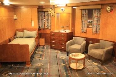 Queen Mary - Captain's bedroom - cabine commandant