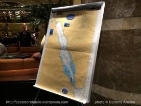 MSC Fantasia - Lobby - Carte marine