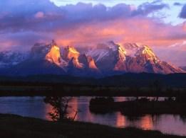 Couché du soleil sur Torres del Paine