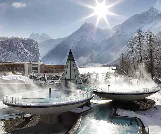 Un baño en las montañas de Austria: Hotel Aqua Dome