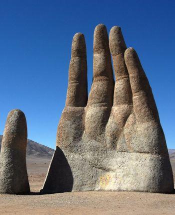 la mano del desierto