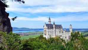 castillo de neuschwanstein rodeado de arboles