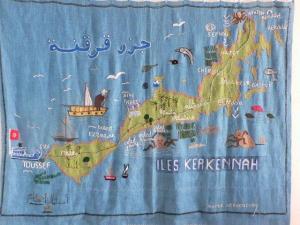 Carte de Kerkennah - Escapade Tunisie