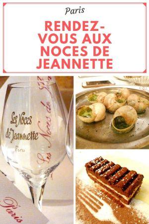 les noces de Jeannette une bonne adresse à Paris