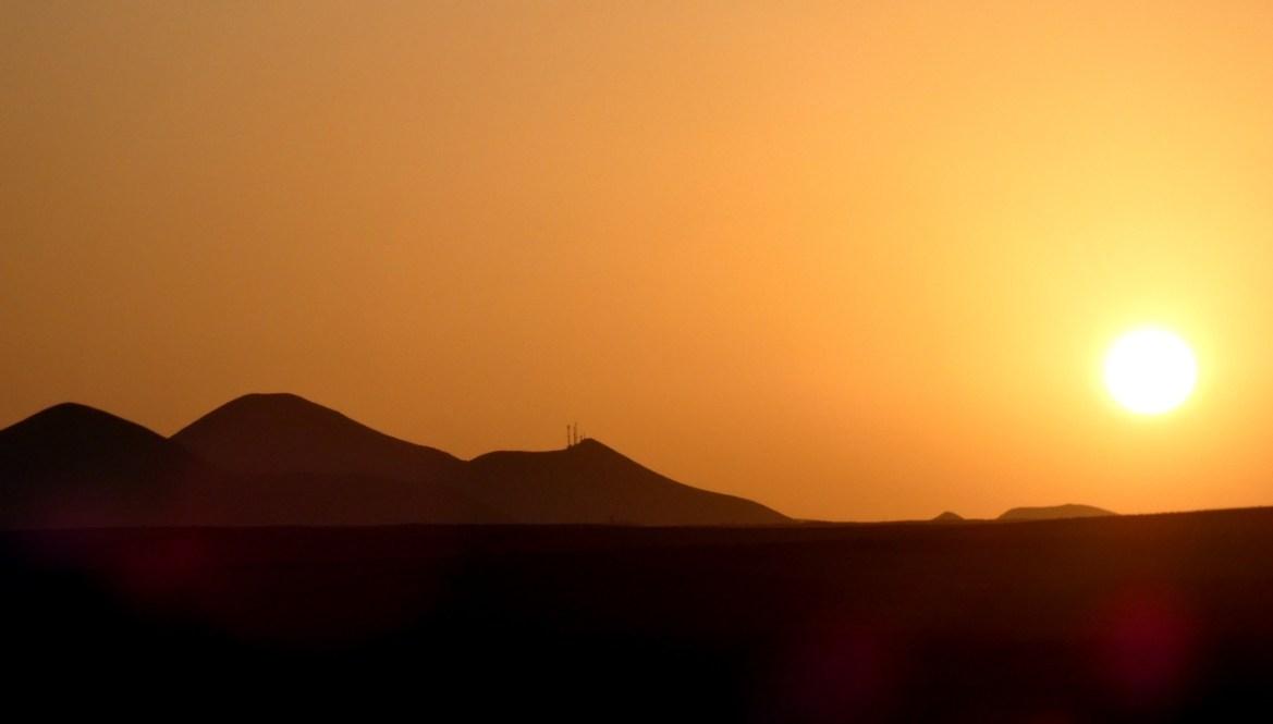coucher de soleil à Lanzarote escapades amoureuses