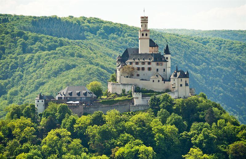 allemagne romantique château de Marksburg