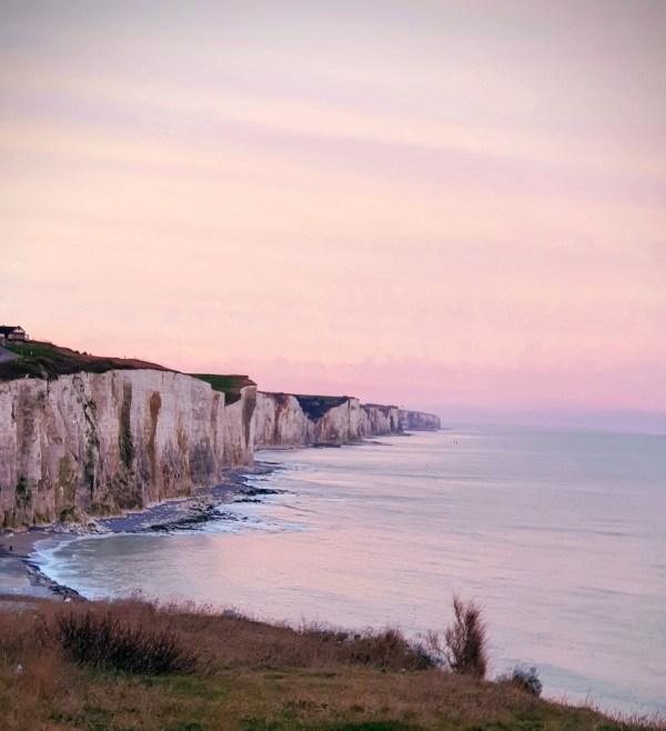 Mers-les-bains les falaises d'Ault Picardie Baie de somme