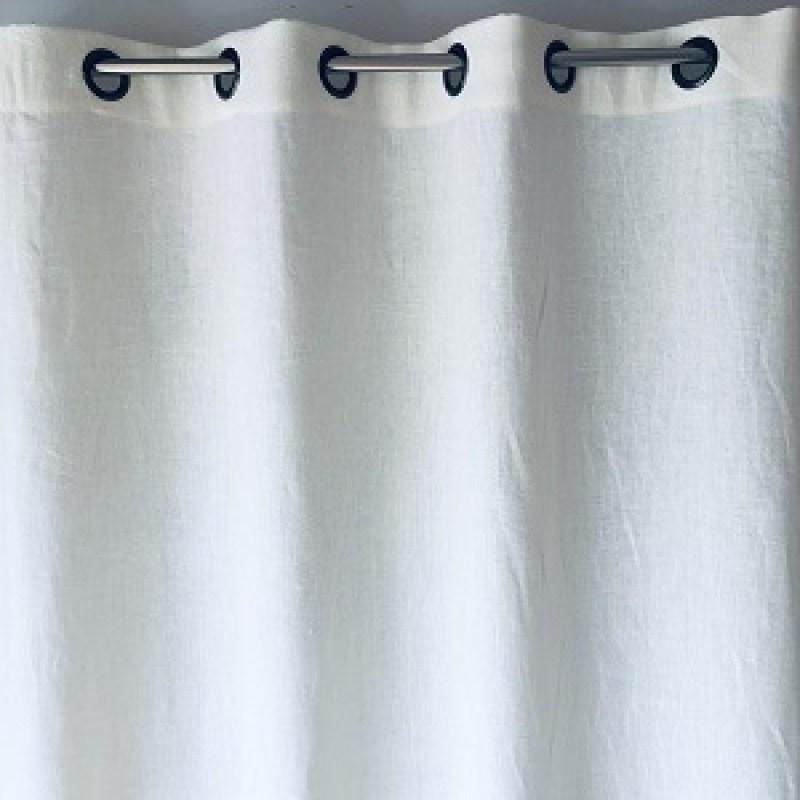 rideau lin lave blanc sur mesure