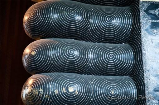 Pied nacré bouddha couché - wat Pho