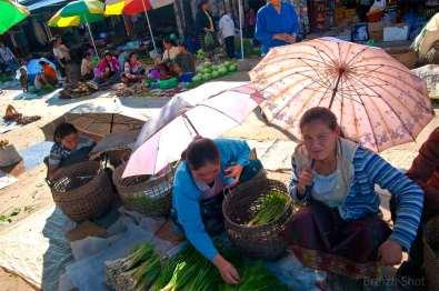 produits de maraîchage - marché de luang namtha