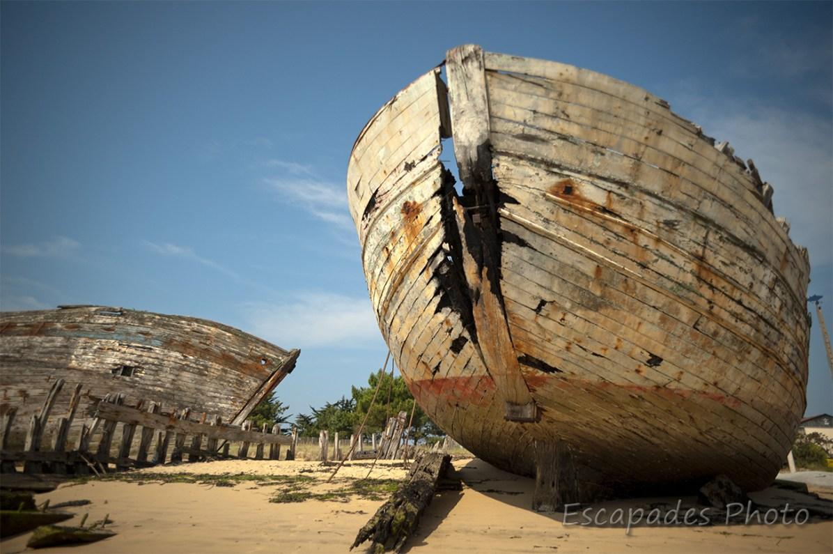 Cimetière à bateaux du Magouër