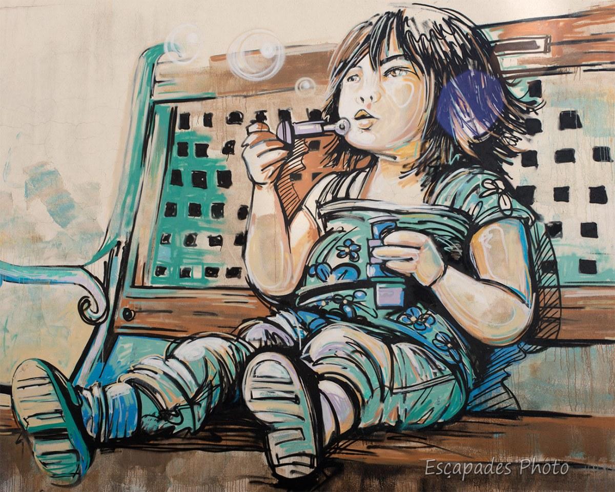 AliCè - fille aux bulles - Vitry sur Seine