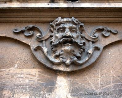 Arad - Mascaron sur un immeuble