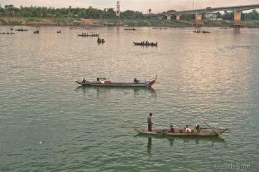 Action de pêche sur le Mékong