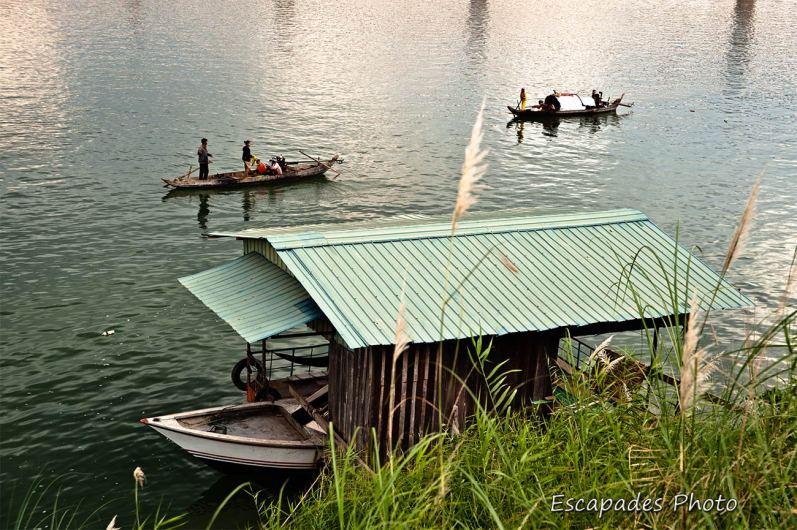 Maison flottante sur le Mékong