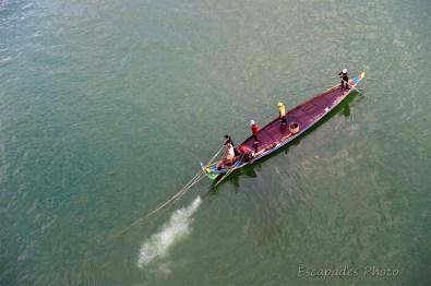Mekong - bateau de pêche à Kampong Cham