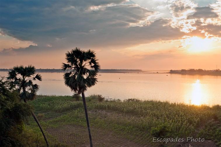 Mékong : le soleil se couche