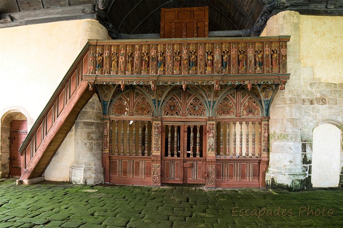 Jubé de la chapelle Saint-Nicolas de Priziac