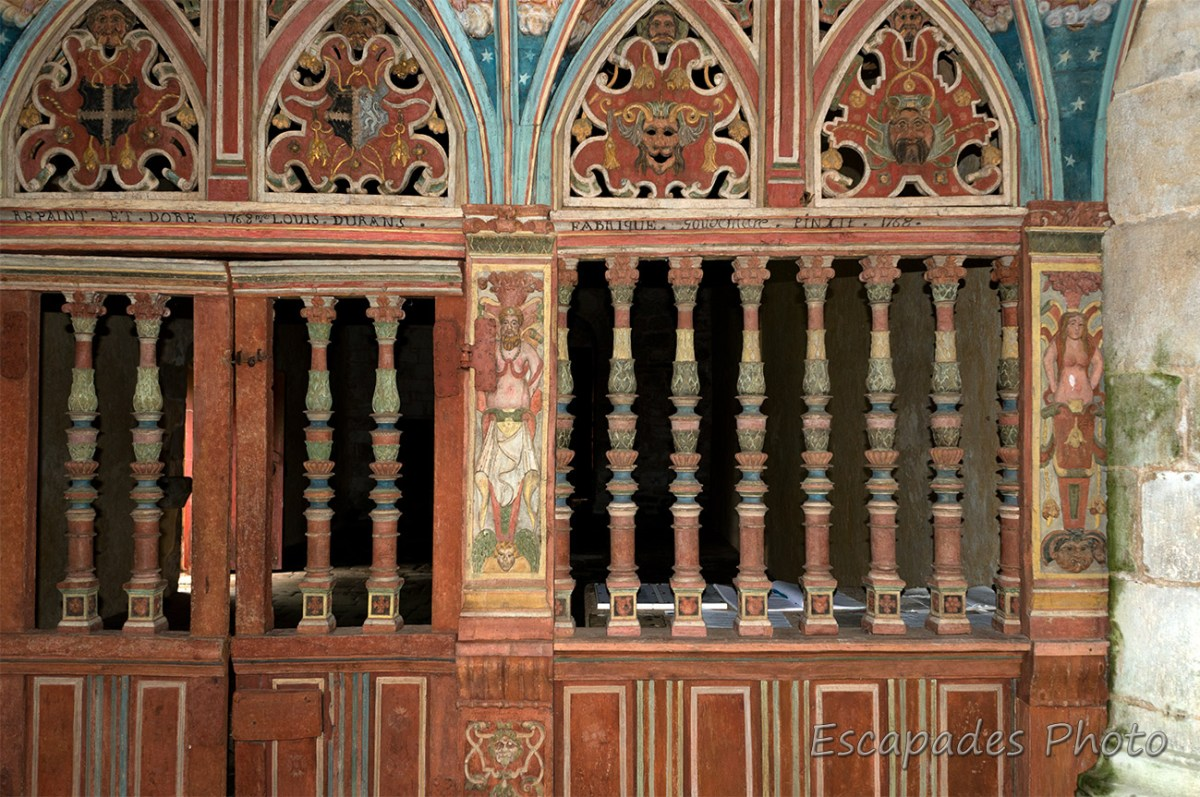 Jubé côté chœur - Saint-Nicolas de Priziac